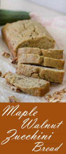 Maple Walnut Zucchini Bread