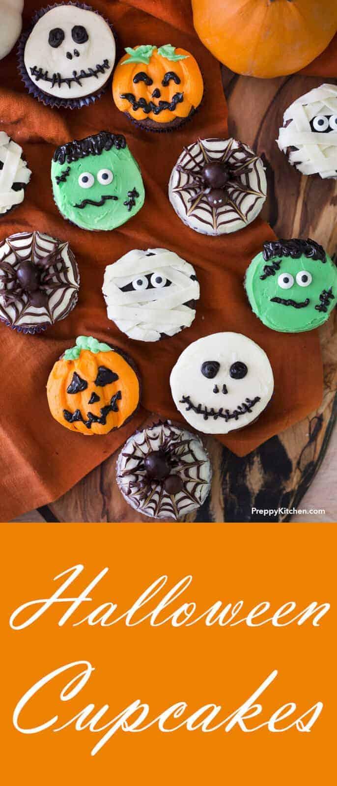 halloween cupcakes - preppy kitchen