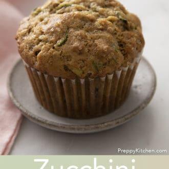 Zucchini muffin on small plate