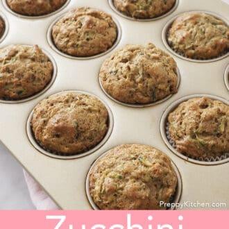 Zucchini muffins in muffin pan