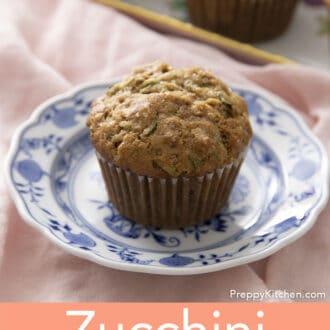 Zucchini muffin on plate