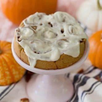 Pumpkin Pecan Cinnamon Roll