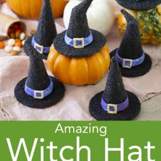 various black witch hat cookies