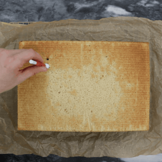 Eggnog Sheet Cake