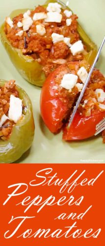 Stuffed Tomatoes and Peppers