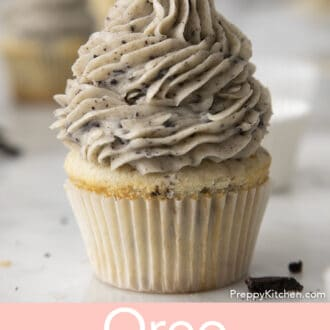 oreo cupcake with oreo frosting