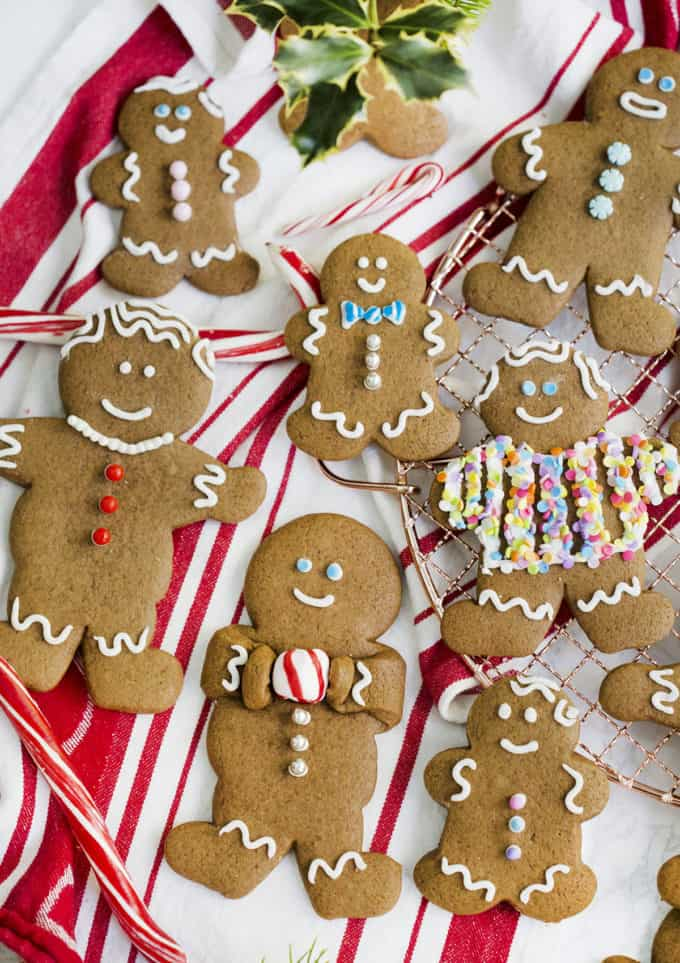 A photo of decorated Gingerbread Cookies.