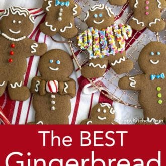 decorated gingerbread cookies on a cooling rack