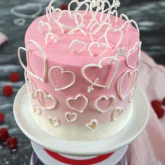 Raspberry Valentine's Cake