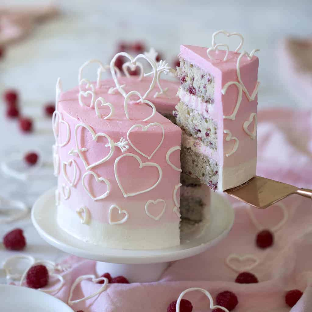 raspberry valentine s cake preppy kitchen