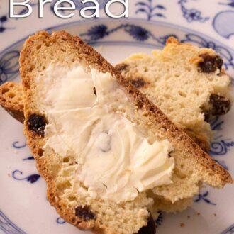 A pinterest graphic of Irish Soda Bread
