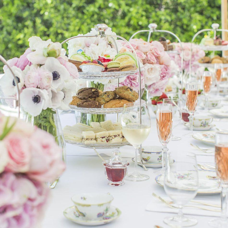 Photo of the table-scape from an Afternoon tea party themed event