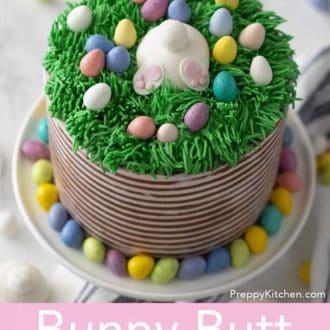 bunny butt easter cake