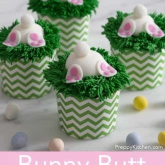 bunny butt easter cupcakes