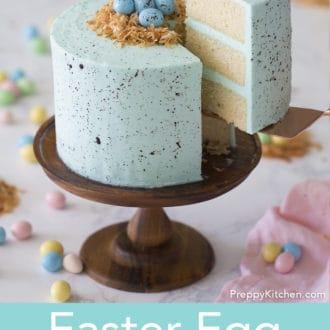 robin's egg easter cake