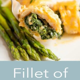 A pinterest graphic of fillet of sole
