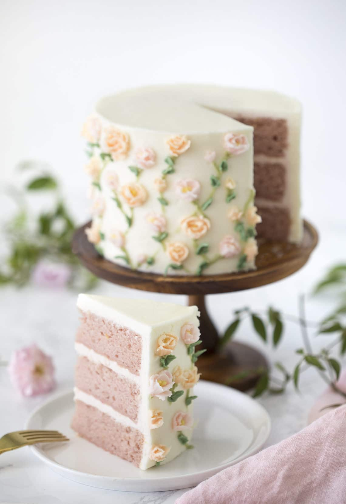 Recipe Painted Cake #cakes #recipes