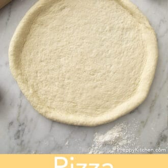 A disk or pizza dough.