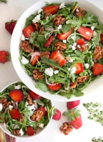 Walnut Strawberry Salad