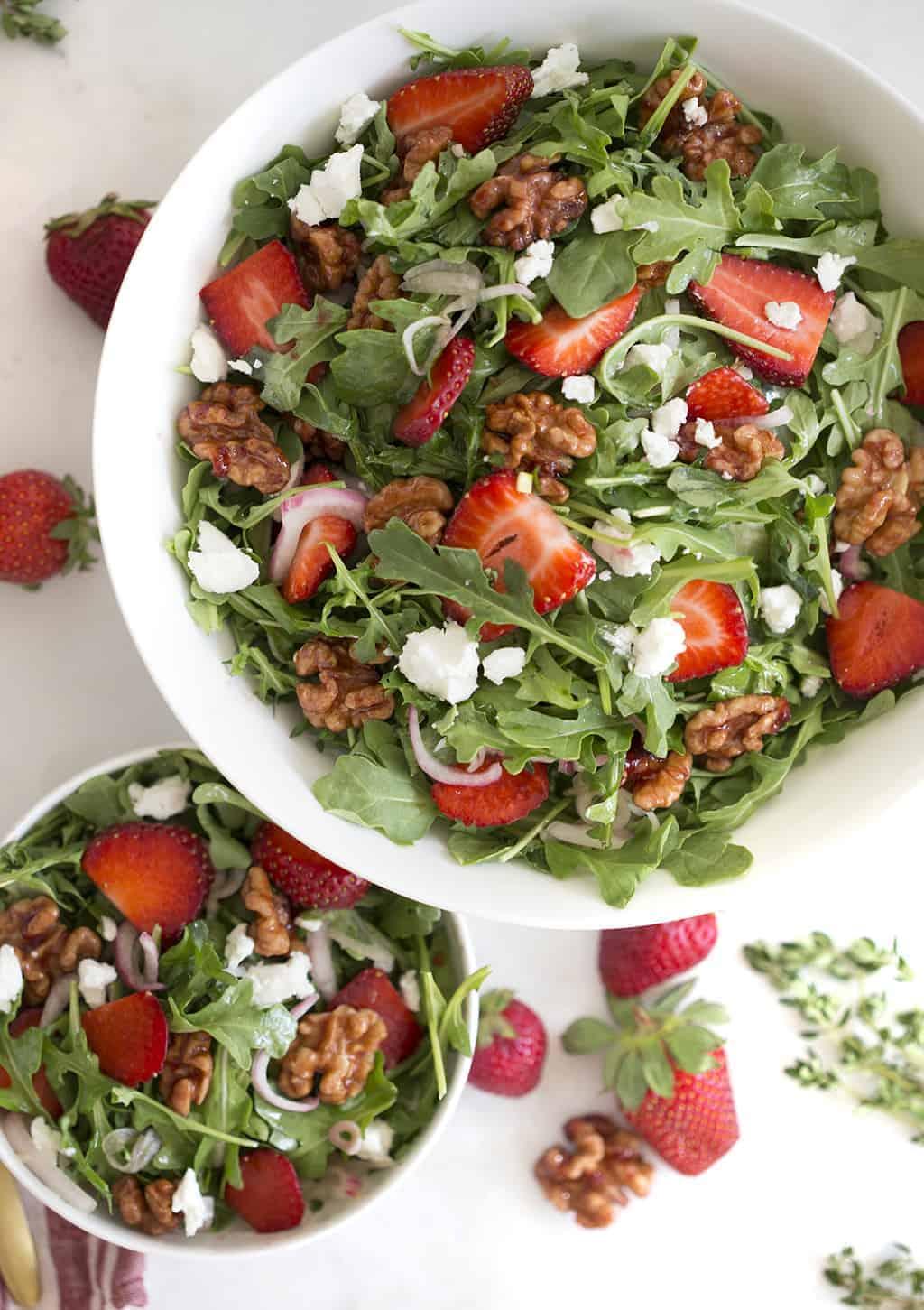 Walnut Strawberry Salad