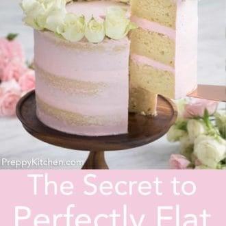 three layer naked cake