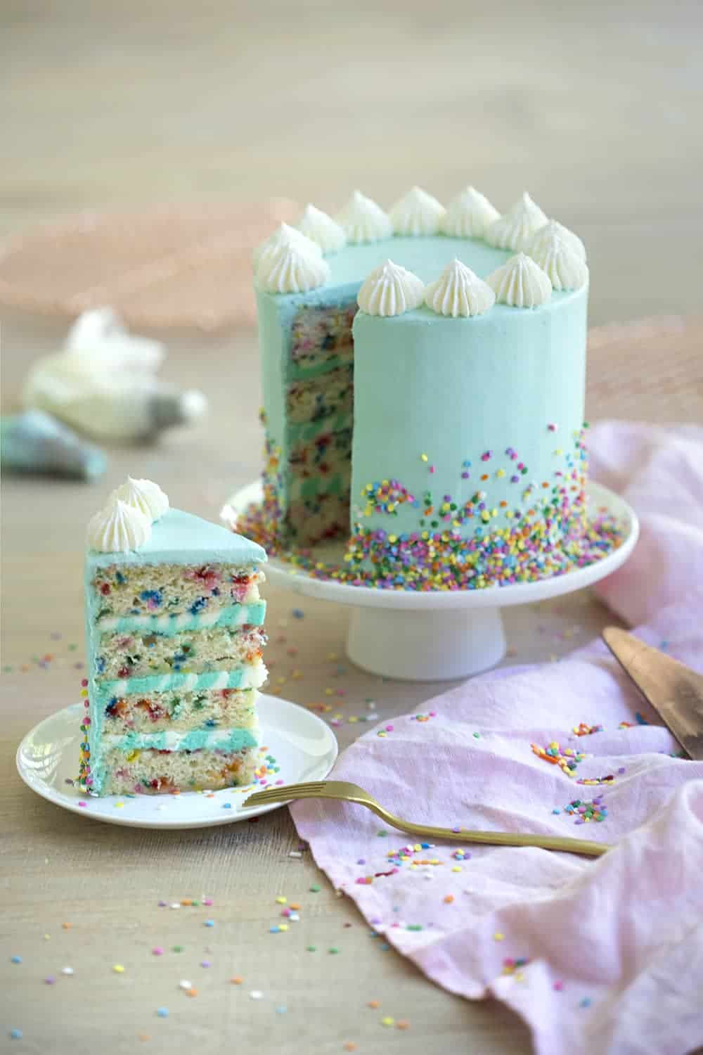 funfetti cake - preppy kitchen