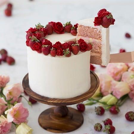 Peachy Strawberry Cake Preppy Kitchen Funny Birthday Cards Online Overcheapnameinfo