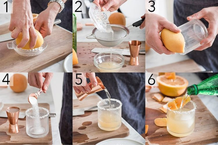 A photo showing steps on how to make a paloma.