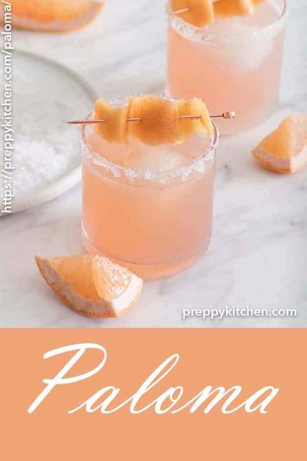 This refreshing and zingy drink made with grapefruit, tequila, lime and a touch of sugar is perfect for a warm day, a cold night, basically whenever you want that perfect cocktail!