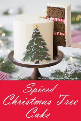 A photo of this spiced Christmas tree cake