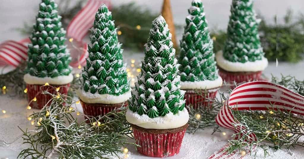Christmas Tree Food.Christmas Tree Cupcakes