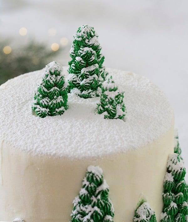 Water And Sugar For Christmas Tree: Christmas Tree Cake