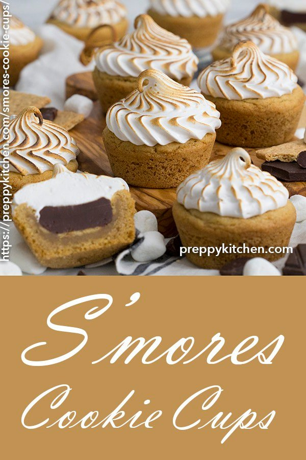 A clipping of s'mores cookie cups.