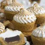 A photo of s'mores cookie cups.