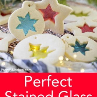 sugar cookie stained glass cookies
