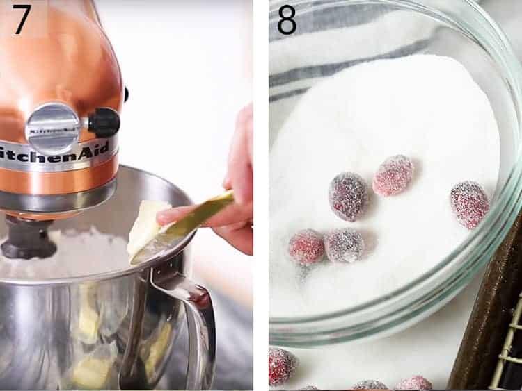 cranberries rolled in sugar.