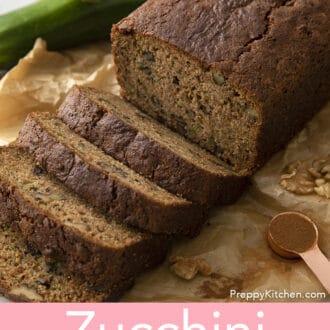 Pieces of zucchini bread
