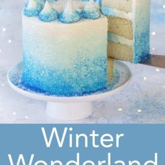 winter wonderland 3 layered cake
