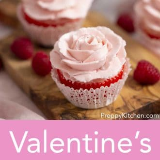 valentines day rose cupcakes