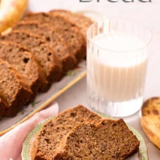 A pinterest graphic of banana bread