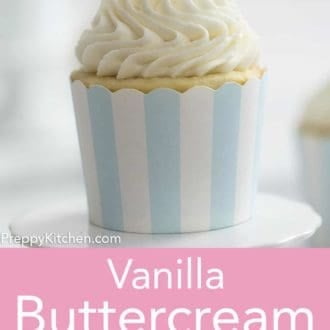 cupcake with vanilla buttercream frosting