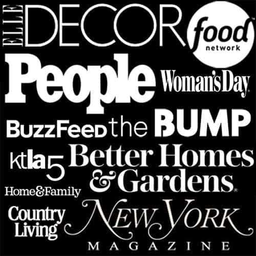 A group of logos showing places Preppy Kitchen has been Featured