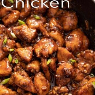 A interest graphic of Bourbon Chicken