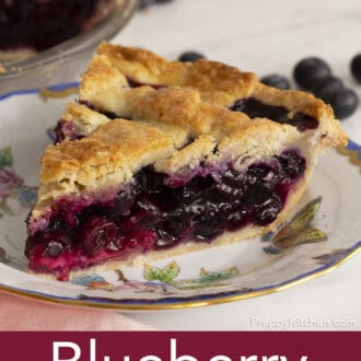 piece of blueberry pie on a place
