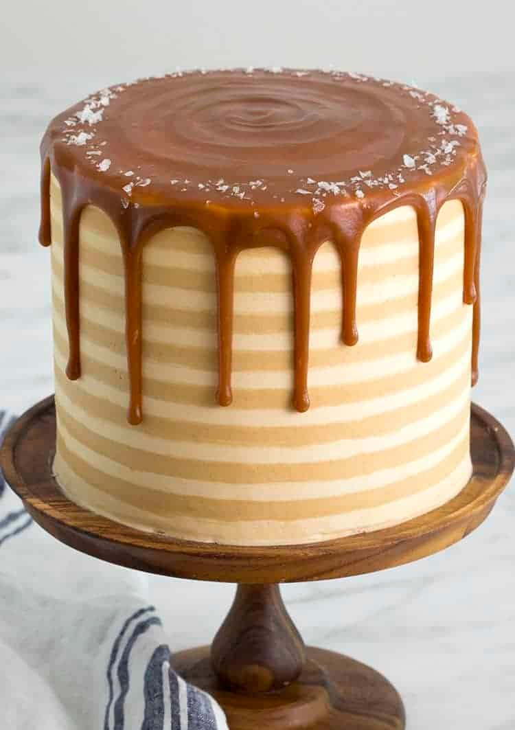 A cake covered in caramel