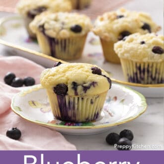 A group of Blueberry Muffins.