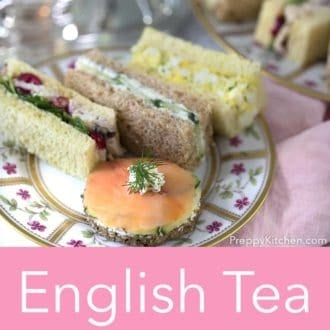 afternoon tea sandwiches on a plate