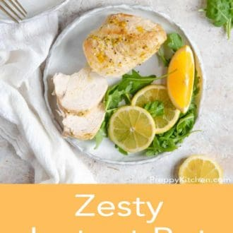 instant pot chicken breast on a plate
