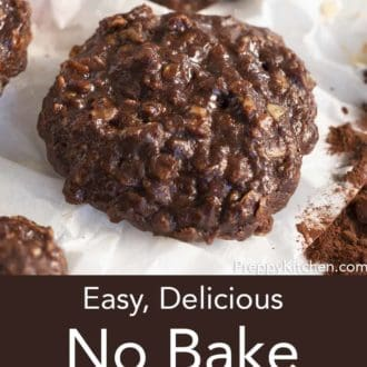 no bake cookie on parchment paper