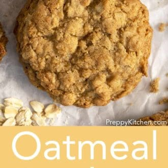 oatmeal cookie on parchment paper
